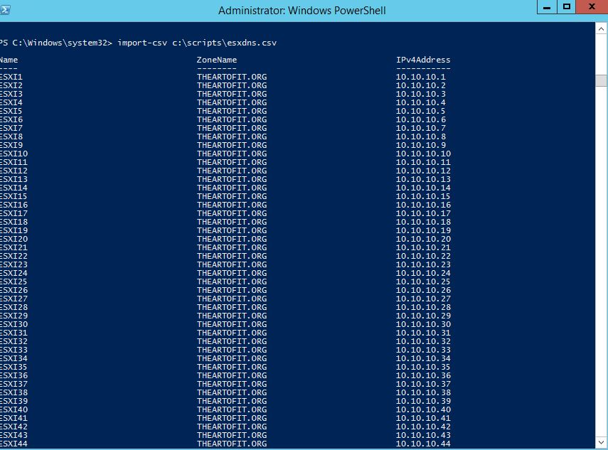 Import-CSV PowerShell Example